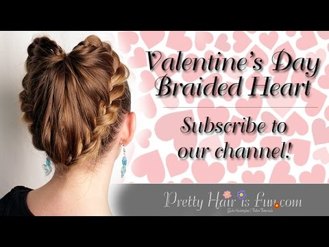 EASY BRAIDED HEART HAIRSTYLE!! ❤️❤️