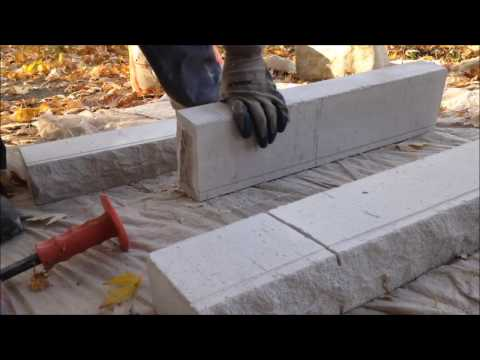 HOW TO BUILD A CHIMNEY CROWN: CUTTING SILLS WITH A 4 INCH GRINDER