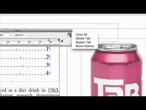 Setting Tabs InDesign (No. 90)