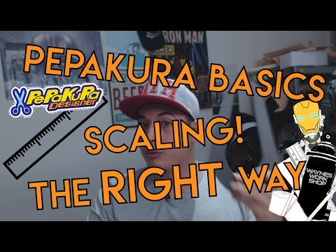 Pepakura basics, Scaling and how to do it.