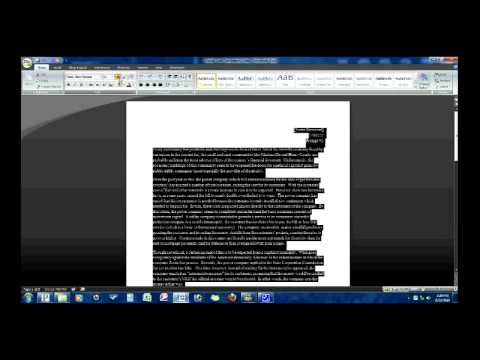 How to Create a Double-Spaced, Properly-Formatted Essay in MS Word 2007
