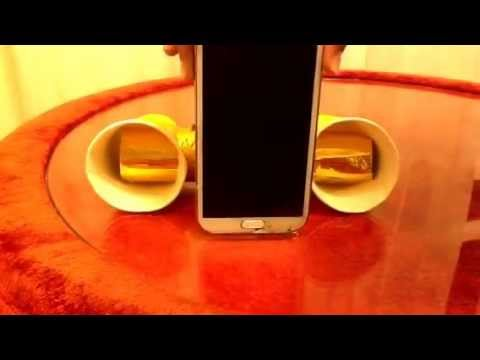 DIY Paper Cups and Kitchen towel tube speakers for phone: Acoustic Radiator