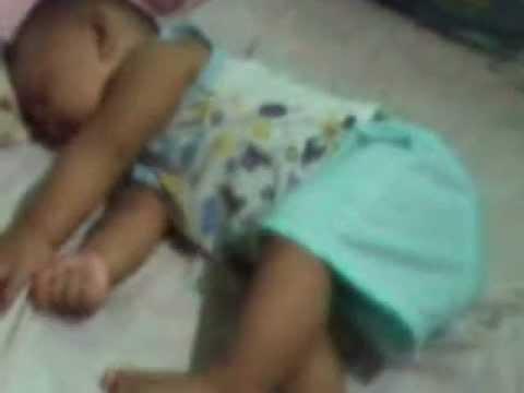 Gab's funny sleeping habit