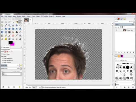 GIMP 2.9 Foreground Select Example