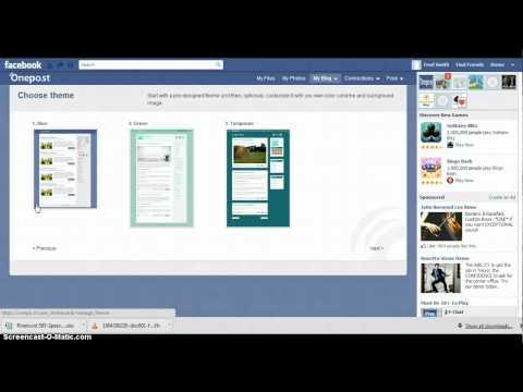 Create A Blog On Facebook