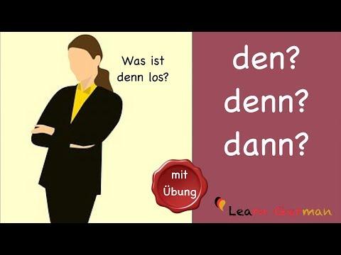 Learn German | German Grammar | den, denn oder dann | A1 | A2