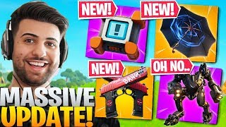 Everything Epic DIDNT Tell You In The HUGE Patch! (Crash Pads, Umbrellas) - Fortnite Battle Royale