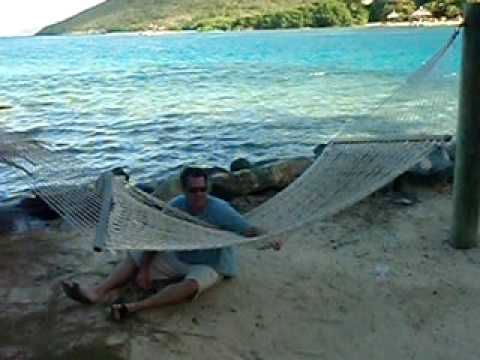 Trying to keep my hammock from flipping over.