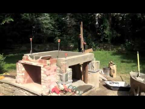 Wood Pizza Oven/ Outdoor Fireplace Combo build