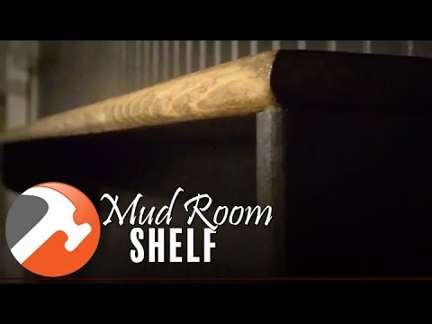 BUILD & HANG A DIY MUD ROOM SHELF   I CAN MAKE THAT
