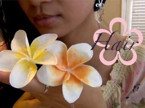 Recycle: BACK TO SCHOOL 2013 /Plumeria Flower Hair Pen
