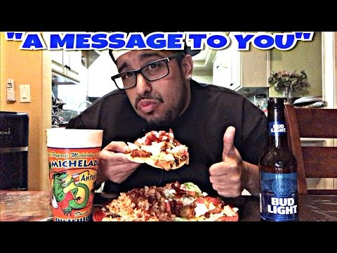 Mexican food Tostadas mukbang & Budlight Michelada mukbang/eating show Wendy's eating show
