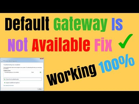 Default Gateway Is Not Available In Windows 10/ 8 /8.1/7 Fix