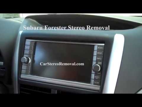 Subaru Forester Stereo Removal