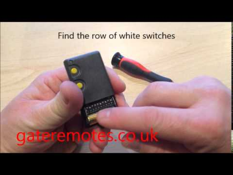 Programming a BFT Dip Switch Garage & Gate Remote Control