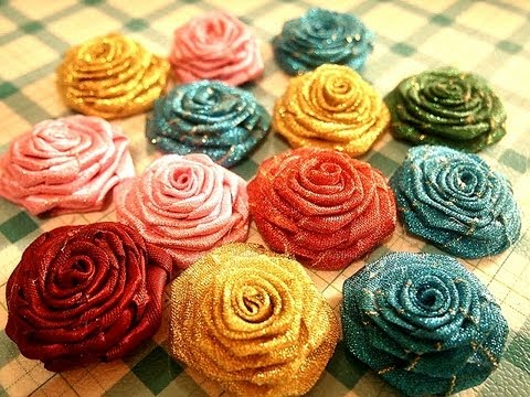 D.I.Y. Flower..RIBBON ROSE