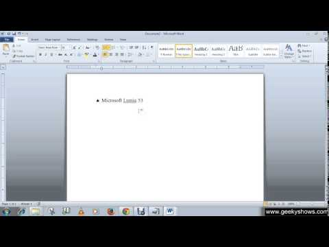 Microsoft Office Word 2010 Bulleted Shopping List and Change Line Spacing of list