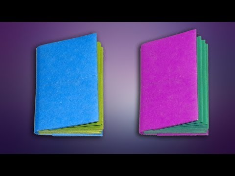 How to Make Easy Paper Book | DIY Mini Notebook | Origami Diary