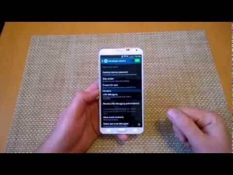 Samsung Galaxy Note 3 Enable Developer Mode turn on usb debugging option