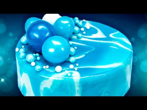 How to Make a Mirror Cake (Mirror Glaze Cake) from Cookies Cupcakes and Cardio