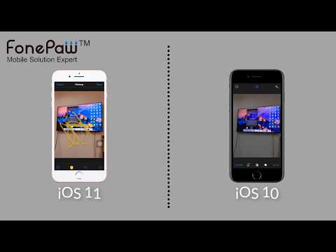 Features and Changes between iOS 11 and iOS 10