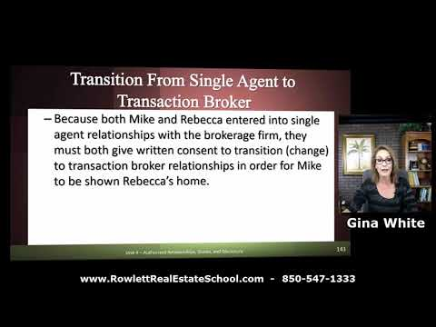 Transition From Single Agent To Transaction Broker