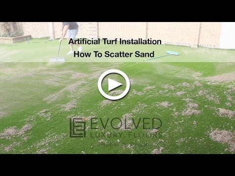 Artificial Turf 5. How To Scatter Sand On Synthetic Turf?