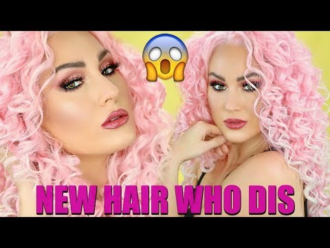 GLOWY HUDA BEAUTY MAKEUP & PINK HAIR | The Glam Belle
