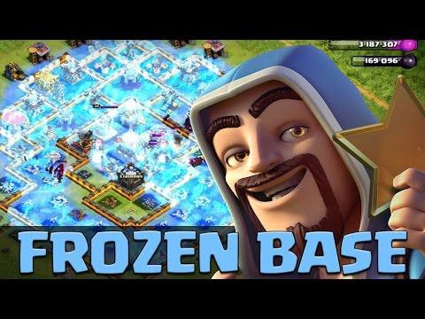 300 x Wizards + 300 x Freeze Spells = Frozen Base Raid   Dev Build  Clash of Clans