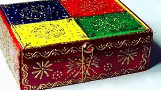 DIY Storage Box From Waste Cardboard Box How To Make Bangle Jewellery Organizer DIY Craft & DIY Storage Box From Waste Cardboard Box How To Make Bangle ...