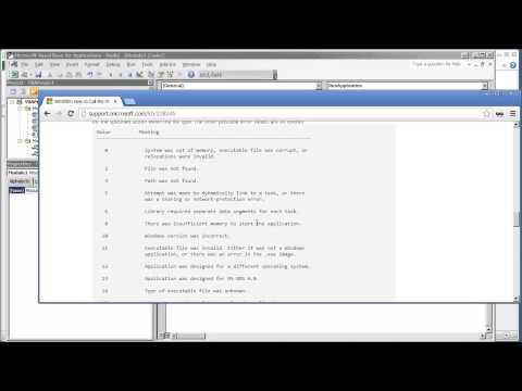VBA Excel Windows API - V1.01 - Opening Another Application
