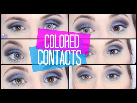 Colored Contacts | Desio - 6 Colors on Dark Eyes! | Mariah McLean