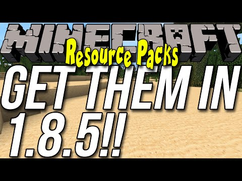 How To Download & Install Resource Packs/Texture Packs In Minecraft 1.8.6/1.8.5