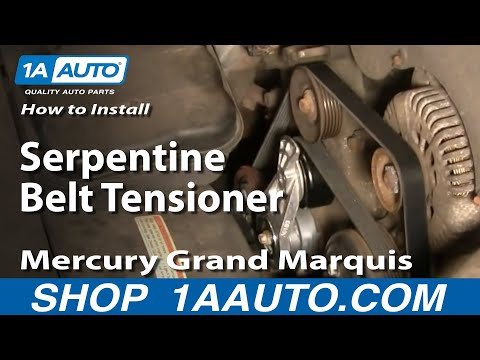 How To Install Replace Serpentine Belt Tensioner Mercury Grand Marquis 4.6L 00-10 1AAuto.com
