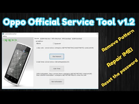 Oppo Official Service Tool v1 2 Remove All Oppo Pattern Lock