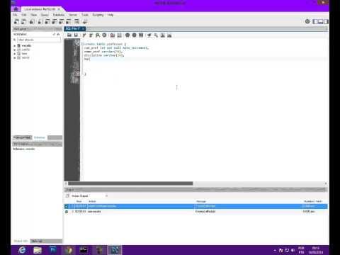 Criando Banco de Dados e Tabelas no Mysql Workbench