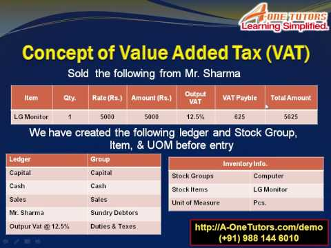 How To Make A VAT (Value Added Tax) Entry In Tally ERP & Tally 9: Part 2