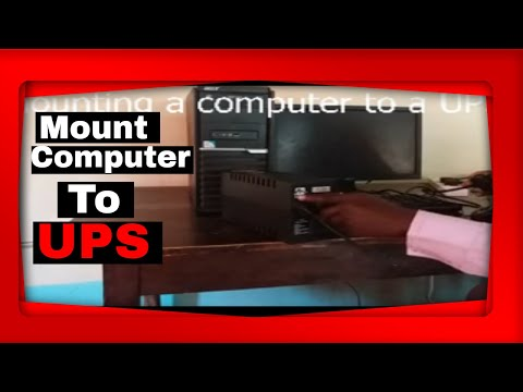 Mounting a computer to a UPS