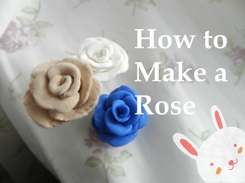 How To Make a Rose With Air Dry Clay