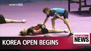 International Table Tennis Korea Open begins on Tuesday