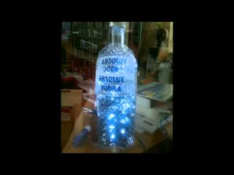Absolut Vodka lamp