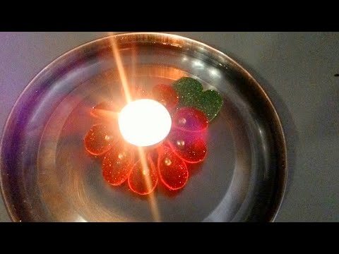 DIY floating tea light-Candle holder for Diwali/christmas