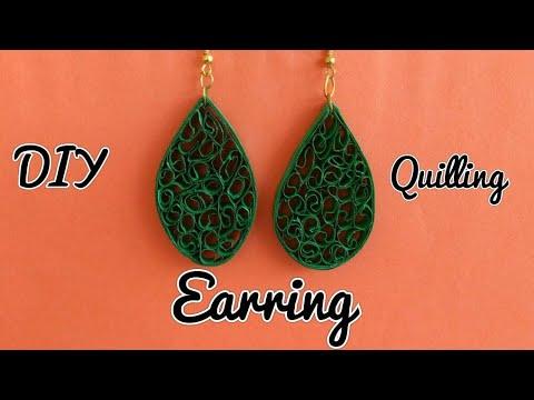 Designer quilling earrings/ Trendy earrings/ How to make earrings/DIY/ Paper quilling earrings