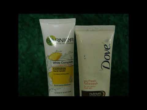 Garnier White Complete Fairness Facewash vs Dove go fresh facewash Comparison - G & S