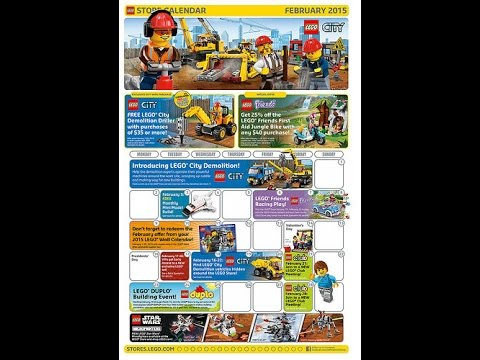 February 2015 LEGO Store Calendar Events and Promos!