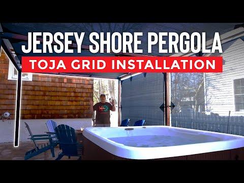 Jersey Shore Pergola | TOJA Grid Installation