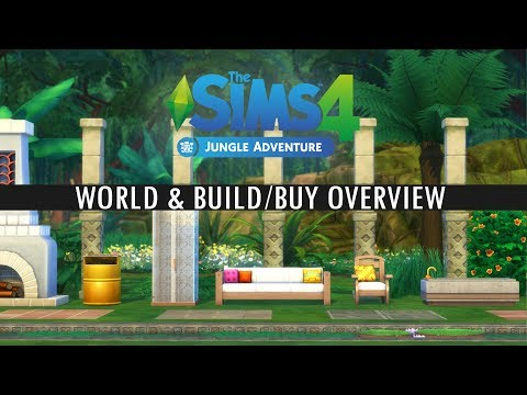 The Sims 4 - JUNGLE ADVENTURE - World & Build-Buy overview