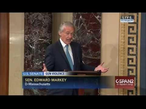 Senator Markey Joins Filibuster in Support Vote on Gun Violence Prevention - June 15, 2016