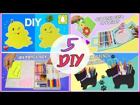 5 Pencil Case Ideas You Must Try #2  DIY Pencil Cases Desk Organizer