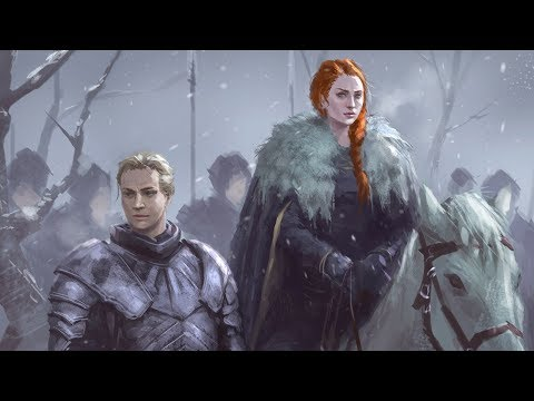 Game of Thrones Sansa and Brienne game of thrones digital painting process